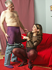 Purple and violet pantyhose..